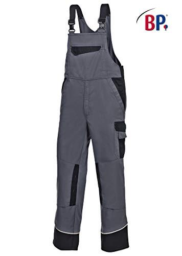 BP Workwear Arbeits-Latzhose Work & Wash-Gr:52l,dunkelgrau / schwarz
