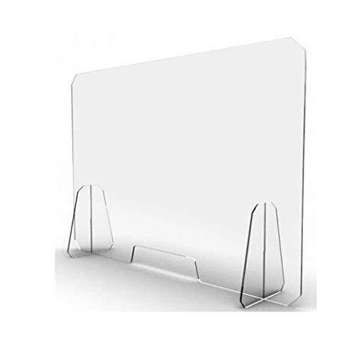 GLYYR Schallwand Acryl Bildschirm Partition Praktischer klarer Empfangsschutz, mit Kleiner Öffnungsschutzschild Plexiglas Sneeze Guard Panel antimikrobiellen Schreibtisch/Tisch/Arbeitsplatte, 60x8