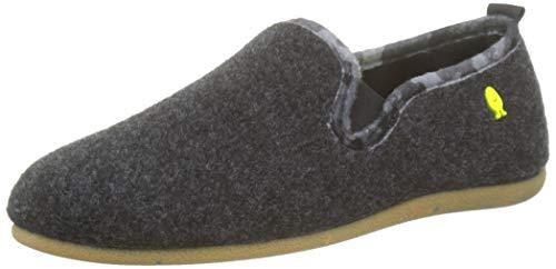 HOT POTATOES 57006-P, Zapatillas de Estar por casa con talón Abierto para Hombre, Negro (Negro Negro), 40 EU