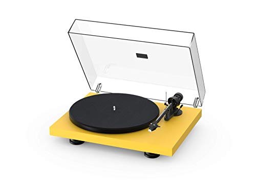 Pro-Ject Debut Carbon EVO, Audiophile Turntable with Carbon Fiber tonearm, Electronic Speed Selection and pre-Mounted Sumiko Rainier Phono Cartridge (Satin Golden Yellow)