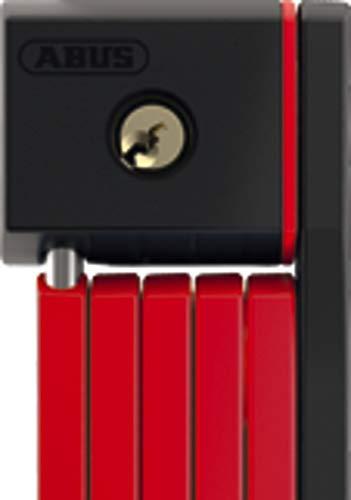 ABUS 5700/100 RD Sh, Lucchetto Pieghevole. Unisex-Adulti, Rosso, 100 cm