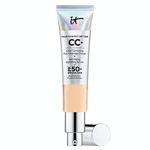 IT Cosmetics Your Skin But Better CC Cream Light Medium C  Color Correcting Cream FullCoverage Foundation AntiAging Serum amp SPF 50 Sunscreen  Natural Finish  108 fl oz