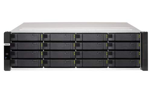 QNAP ES1686dc-2123IT-64G 16-Bay ZFS NAS XeonD-2123IT 2,2GHz 4-core 64GB 6,35/8,89cm 2,5/3,5Zoll SAS 12Gbps 3 Gigabit LAN 4 10G-bE