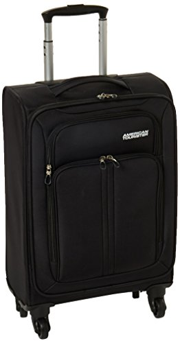 American Tourister Splash LTE Spinner 20 Carry On Luggage, Black