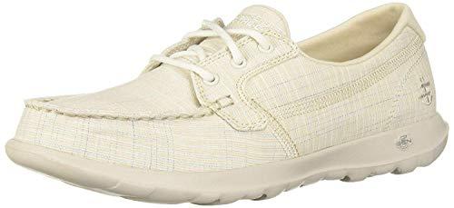 Skechers Women's GO Walk LITE-16423 Boat Shoe, Natural, 5.5 M US