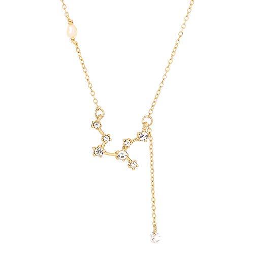 Janly Clearance Sale Collares y colgantes para mujer, 12 collares de constelación, aniversario, cumpleaños, regalo creativo para mujeres, día de San Valentín, cumpleaños, joyas para mujeres (E)