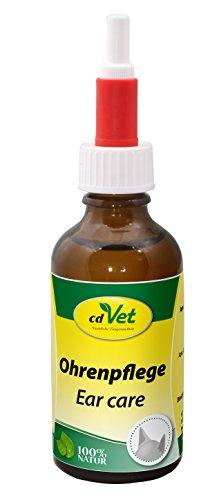 cdVet Naturprodukte Ohrenpflege 50 ml - Hund - Pflegemittel - schonende Reinigung + Pflege der Ohren + Gehörgang + Ohrmuschel - Milbenbefall - selbstständige Verteilung - Gesundheit - Tiefgründig -