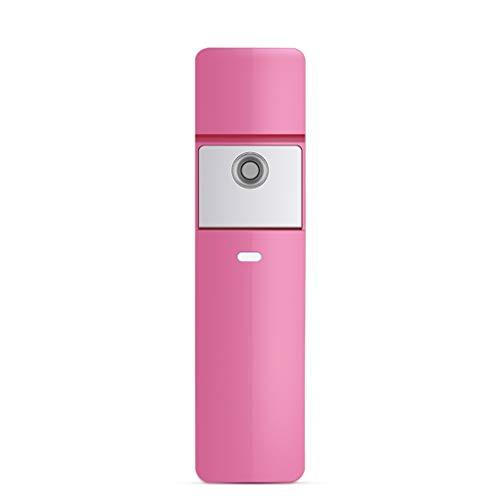 Pulverizador facial, instrumento de hidratación nano spray portátil de mano vaporizador facial instrumento de belleza herramienta de hidratación facial (Color : Pink)