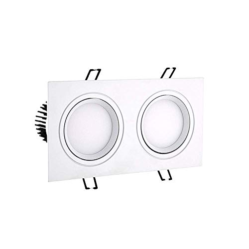 HYLH Focos empotrables LED Lámpara Plana de Panel de 14 W, Doble...