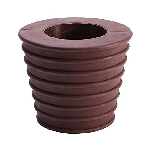 Ombrello da patio a forma di cuneo per patio con apertura e foro da tavolo, base per ombrellone in gomma, cono per apertura da 6,7 cm o base da 1,9 a 6,9 cm (marrone)