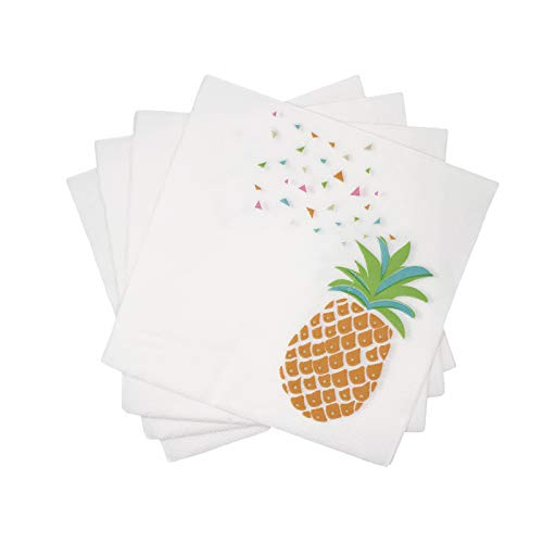 WallyE Pineapple Napkins Luau Party Supplies Hawaiian Paper Napkins,20 Pack