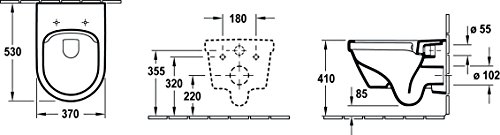 Villeroy & Boch, Pagette Wand-WC Komplett-Set Architectura spülrandlos, 1 stück, weiß, 4035300916726 - 2