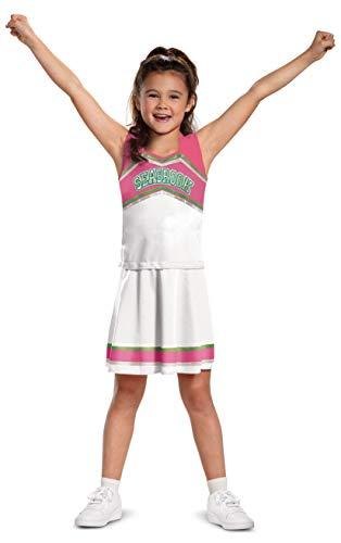 Addison - Disfraz de animadora de Disney Zombies-2, disfraz de personaje inspirado en la película, para niños, tamaño clásico pequeño (4-6x)