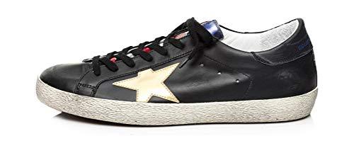 VCEGGDB Zapatillas de deporte antideslizantes para hombre Super Star Casual Walking Shoes, color Negro, talla 40 2/3 EU