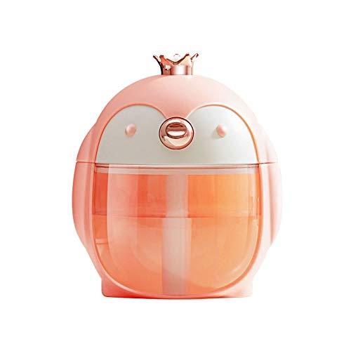 SHYPT Tragbare Ultraschall-Luftbefeuchter Cute Pet Penguin 300ML Air USB Aroma Essential Oil Diffuser mit Farbe Nachttischlampe