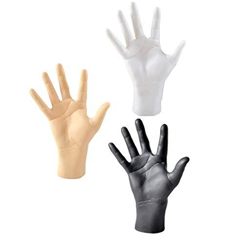 Backbayia 3 Stück Männliche Hand Modell Schmuckhand Dekohand Display Halter für Armband, Uhren, Ringe, Handschuhe