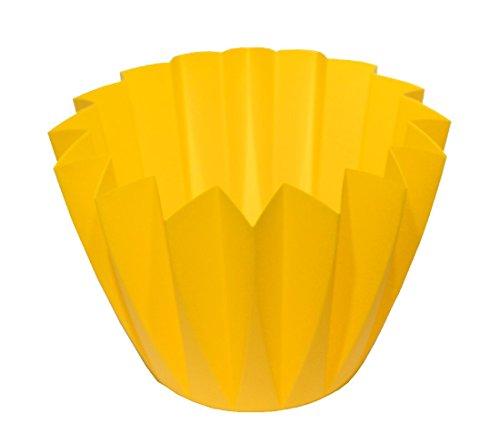Schrijfdecoratie pot van kunststof/citroen/Ø 14 cm/20 stuks