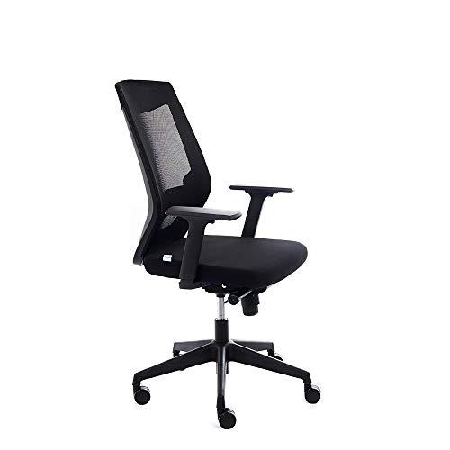 Rocada | Sedia da ufficio con Regulacion lombare schienale rete nero e seduta colore: nero