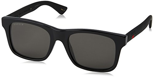 [category] Gucci GG0008S Sunglasses 002 Black / Grey Polarized Lens 53mm