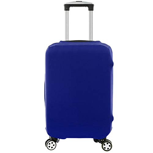 Travel Luggage Suitcase Cover Elastic Dustproof Spandex Protective Anti-Scratch for 20-28 Inch Luggage (S, Blue)