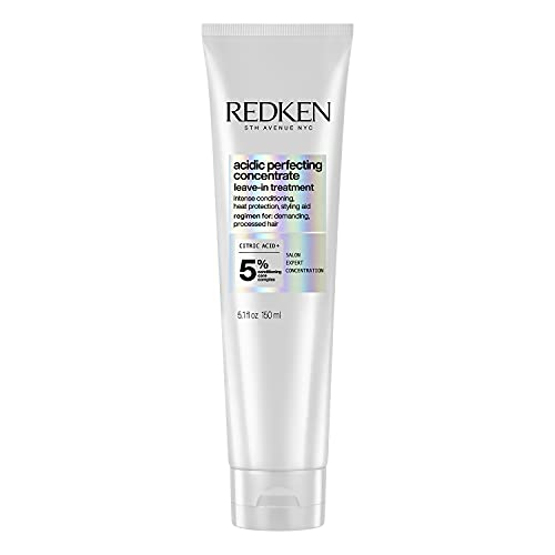 Redken Leave In Conditioner for Damaged Hair Repair | Acidic Perfecting Concentrate | For All Hair Types | Leave In Treatment | 5 Fl Ounce