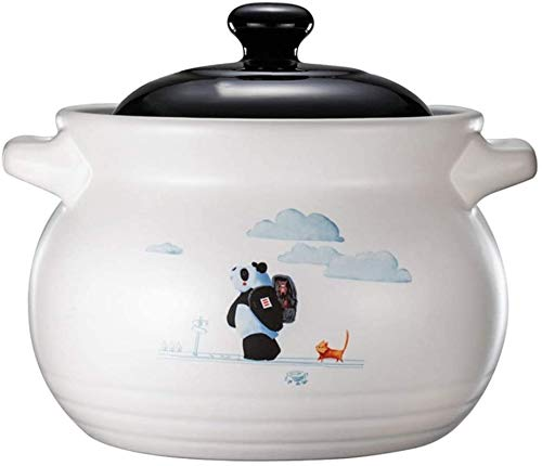 YAOSHUYANG Soup casserole Casserole Dishes Ceramic Pot Traditional Round Soup Pot Kitchen Stew Pot,High Temperature Chinese Kitchenware