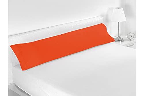 SABANALIA - Funda de Almohada Combina (Disponible en Varios tamaños y Colores), Cama 90-110 x 45, Naranja