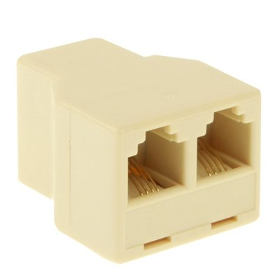 PengSF-NL RJ11 Female naar 2 Female Phone Splitter