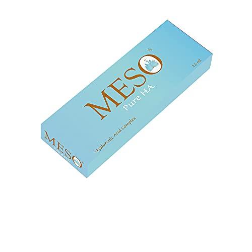 MESO Pure HA ácido hialurónico no reticulado (15 mg/ml) para tratamientos de microneedling y mesoterapia. Un complejo de ácidos hialurónicos de diferentes pesos moleculares (1x2.5 ml)
