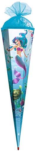 ROTH Schhultüte Meerjungfrau 85cm groß mit Tüll-Verschluss, 6-eckig