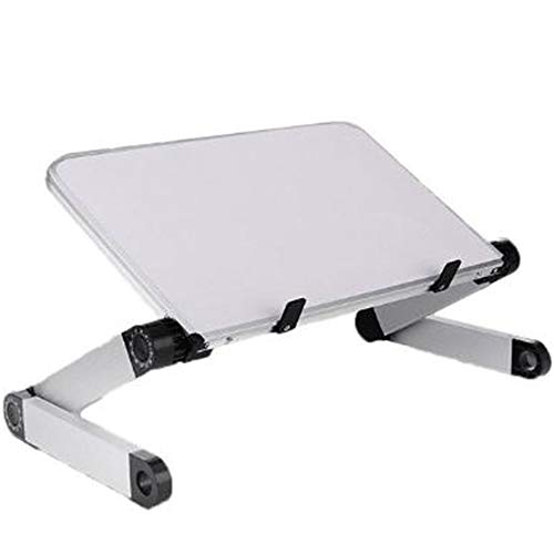JONJUMP Soporte para ordenador portátil, mesa de escritorio para cama, sofá, picnic, desayuno, libro plegable, altura ajustable, ángulo de 360 grados