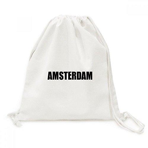 DIYthinker Amsterdam Nederland Naam Canvas Trekkoord Rugzak Reizen Shopping Tassen