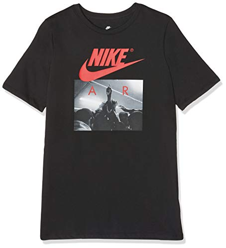 NIKE Air Huddle Camiseta, Niños, Negro, XS