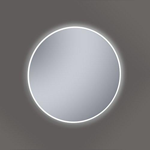 Kristaled Saser Led 60 cm ø Espejo de Baño con Luz, Cristal,...