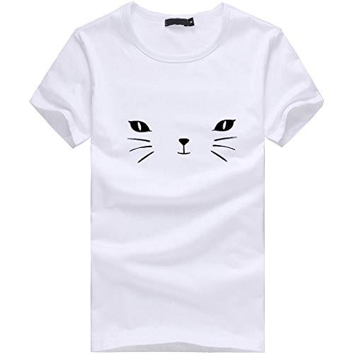 Kinlene Haut à Manches Courtes Imprimé Chat pour Femme T-Shirt Imprimé Grande Taille pour Femme, Sexy, Manches Courtes, Haut De La Plage, DéContracté