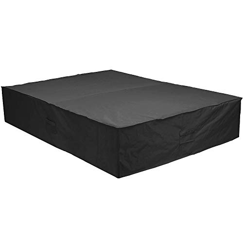 Patio Watcher 88 inches Patio Furniture Cover Durable Water Resistant Outdoor Furniture Sets Cover with Secure Buckle Straps, Black