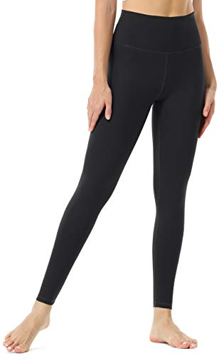 Persit Sport Leggings Damen, Sporthose Yoga Leggins Tights Sportleggins Yogahose für Damen Schwarz-L