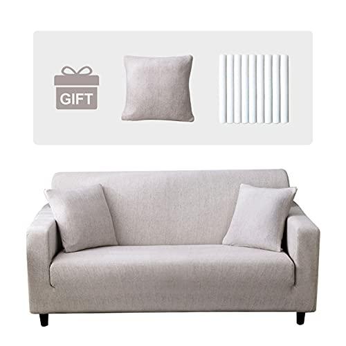 Joydream 1 Stück Sofa überwurf Elastische Sofaüberwürfe Stretch Sofahusse Antirutsch Couchbezug Sofa Cover Sofa Abdeckung Sesselbezug Möbel Protector Sofabezug mit 1 Kissenbezug Muster#QMH, Medium