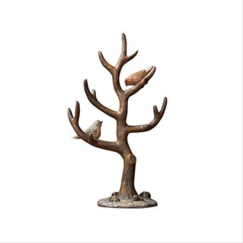 ZHIFENGLIU Statuen Ornamente für Zuhause Kreative Harz AST AST Vogel Schmuck Rahmen Dekoration Schlafzimmer Schminktisch Dekoration Handwerk Dekorationen