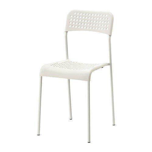 Ikea ADDE Stuhl in weiß; stapelbar