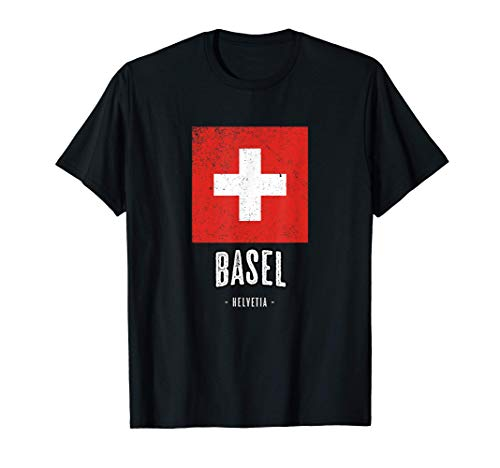 Basel, Schweiz   Stadt - Switzerland Schweizer Flagge - T-Shirt