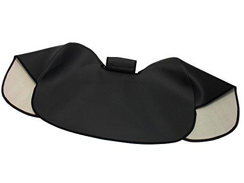 AKF Knieschutzdecke schwarz, gefüttert, Handarbeit - für Simson S50, S51, S70