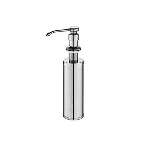 FXJ Dispensador de jabón Manual de Acero Inoxidable Dispensador de lavavajillas para lavavajillas Papelera de jabón de Mano Botella de rotación 360 ° 10.1OZ (Color : Silver, tamaño : 10oz)