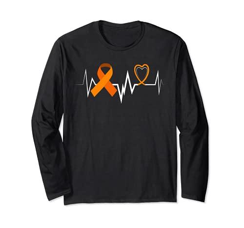 Heartbeat Products Leucemia Ribbon Leucemia Conciencia Manga Larga