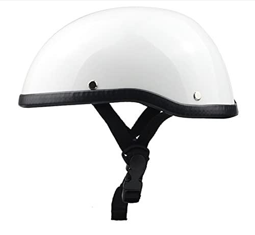 DXMRWJ Retro Abierto Jet Casco Vintage Motocicleta Medio Casco Moto Crucero Seguridad para Adultos Mujer Y Hombre Scooter Motocicleta Protección Helmet