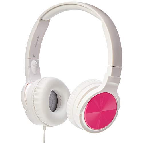 Amazon Basics - auriculares supraurales ligeros, Rosa