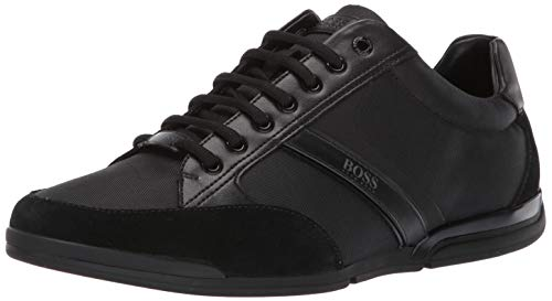 Hugo Boss BOSS Green Men's Saturn Profile Low Top Sneaker, Black, 9 M US