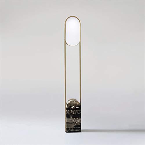 XUSHEN-HU Lámpara de pie de mármol estilo nórdico minimalista para sala de estar, sofá, sala de estar, modelo vertical, lámpara de mesita de noche moderna (pantalla de color: 22 x 12 x 158 cm)