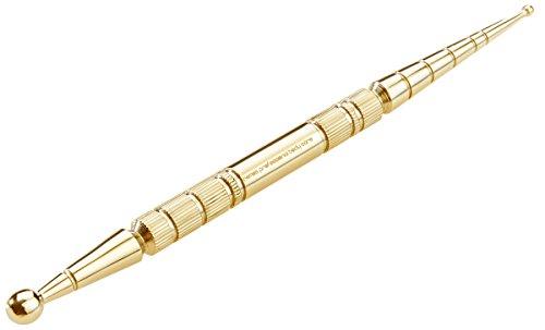 REMOS Akupressurstift & Meridianstift Edelstahl gold Länge 13cm KugelØ 2.5/6 mm