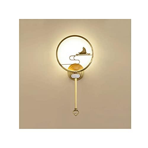 OMING Lámpara de Pared Lámpara de Pared salón de Cobre TELEVISOR Fondo Lámpara de Pared Dormitorio Junto al Lado de la Cama Lámpara de Pared de Piedra de Jade Aplique de Pared al Aire Libre